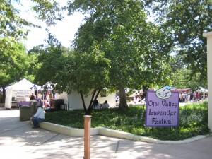Lavender Festival Sign